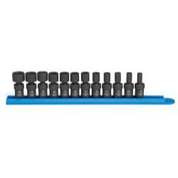 Impact Socket Set SAE//Metric 1//4 Drive GearWrench 1//4DR 4 84902 48 Pc