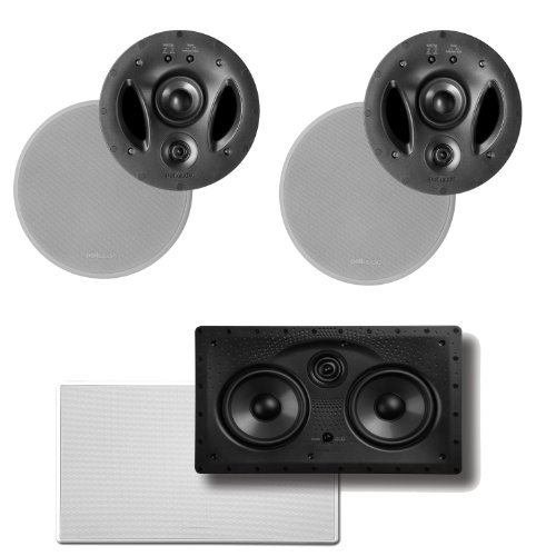 Polk Audio 900-LS High Performance In-Ceiling Speakers (Pair) & A Polk Audio 255C-LS Center Channel Speaker by Polk Audio