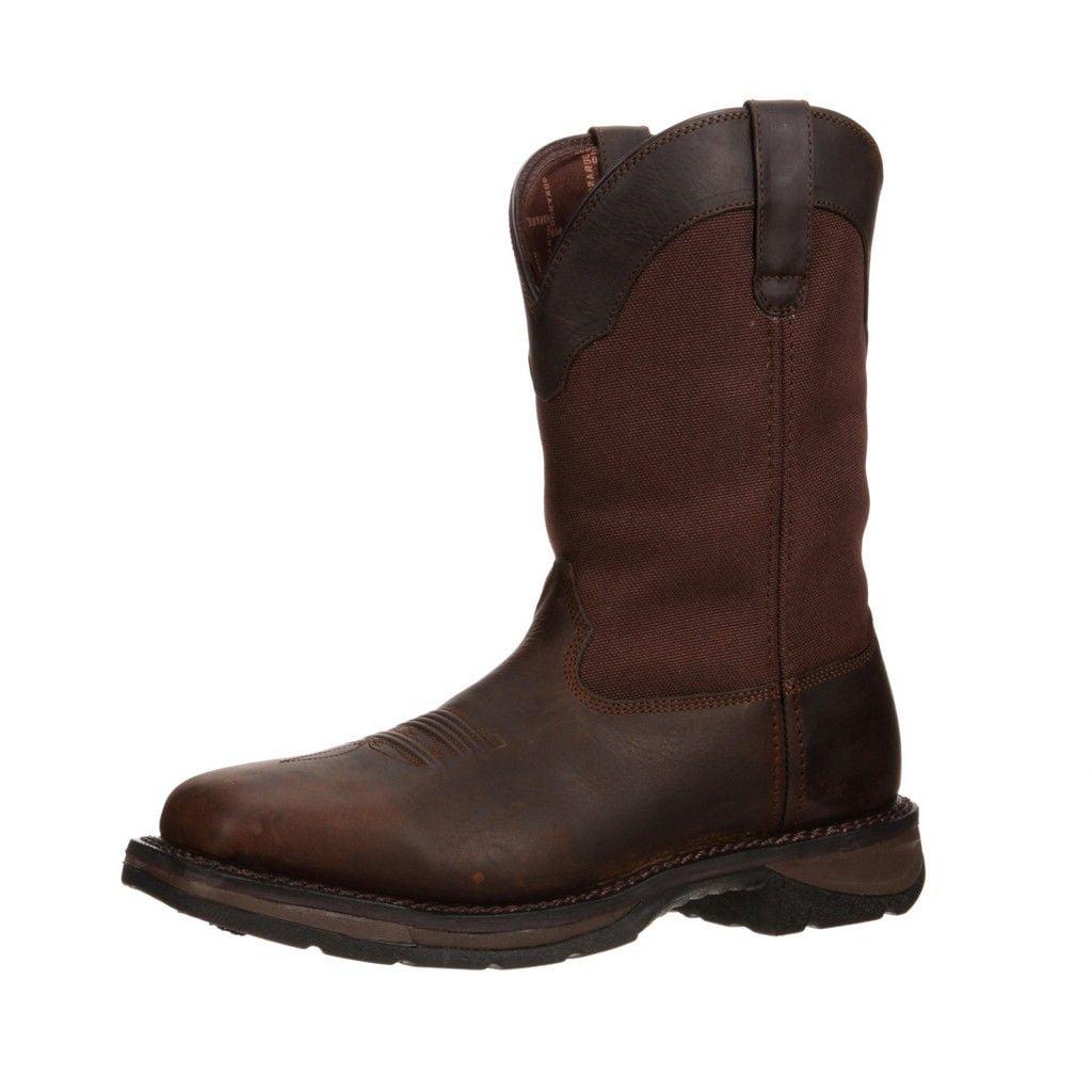 "Durango Work Boots Mens 11"" Rebel WP Rocker Heel Square B..."