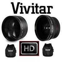 Product Image 2-Pcs Lens Hi Definition Telephoto & Wide Angle Lens Set For Nikon D3400 D5600