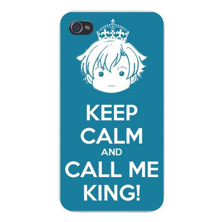 Keep Calm Call (Apple Iphone Custom Case 4 4s White Plastic Snap on - Keep Calm and Call Me King Boy w/ Crown )