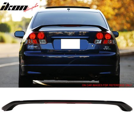 Honda Civic Hybrid Trunk - Fits 01-05 Honda Civic Sedan Factory Style Trunk Spoiler Painted #B92P Black