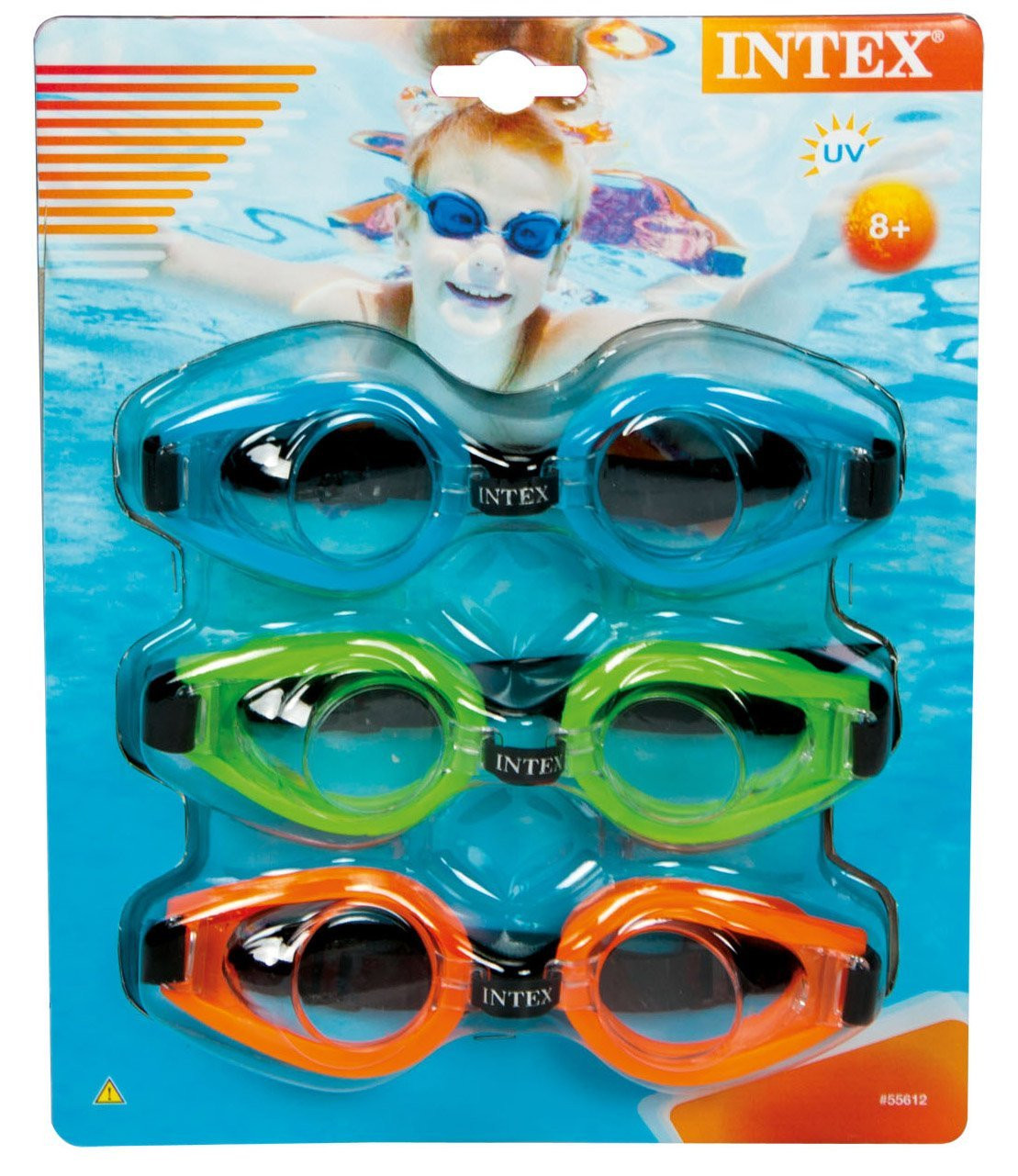 Intex Swimming Pool Kids Children Play Goggles Multicolored Tri-Pack | 55612 by Intex