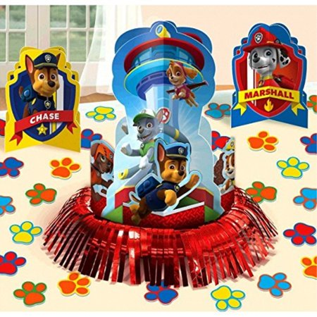 Paw Patrol Party Table Decorations Kit ( Centerpiece Kit ) 23 PCS - Kids Birthday and Party Supplies Decoration - Paw Patrol Decorations