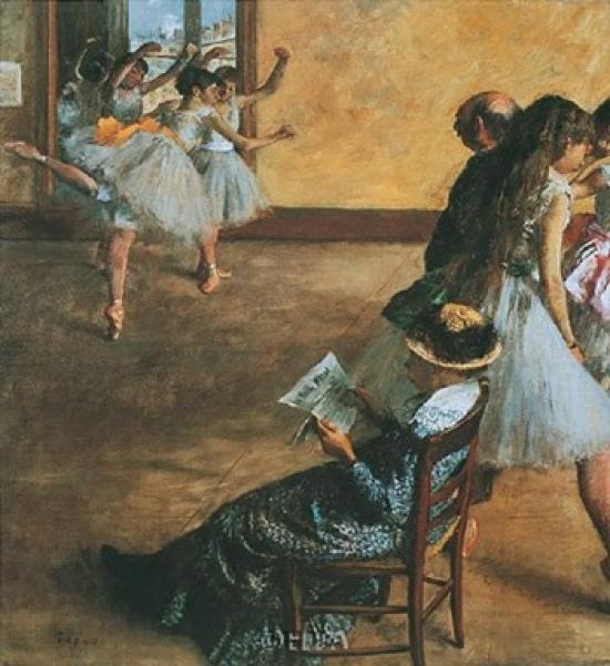 Ballet Class Poster Print by Edgar Degas (21 x 23)