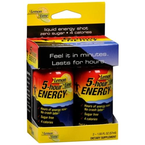 5 Hour Energy Drink Lemon Lime 4 oz (Pack of 4)