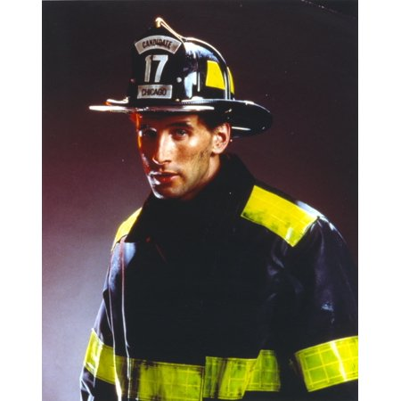 William Baldwin Posed in Fireman Outfit Photo Print - Fireman Outfit