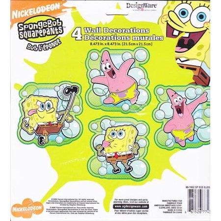 SpongeBob SquarePants 'Bubbles' Wall Decorations (4ct) for $<!---->