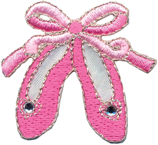 Wrights Iron-On Applique-Pink Ballet Slippers