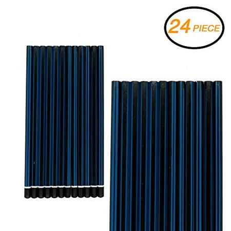Emraw Pre Sharpened 2B Pencils Pack Bundle for Tests Exam Writing Drawing Sketching - Bulk Pack of 24 Pencil - Bulk Pencils