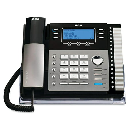 Rca Digital Telephone - RCA ViSYS 25425RE1 Four-Line Phone with Digital Answering Machine, Caller ID