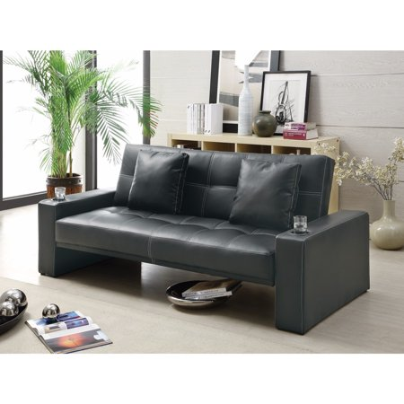 Contemporary Styled Sofa Bed with Casual Furniture Style, Black (Casual Sofa)
