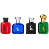 ($76 Value) Ralph Lauren Polo Mini Cologne Gift Set for Men, 4 Pieces