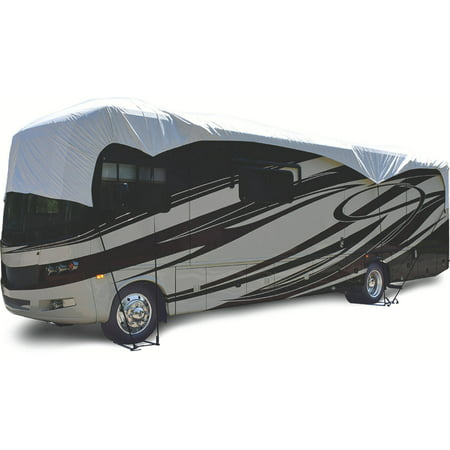 ADCO RV Roof Cover Fits Class A/Class C/Travel Trailer/Toyhauler and 5th Wheel, White Tyvek 5th Wheel Cover Fits