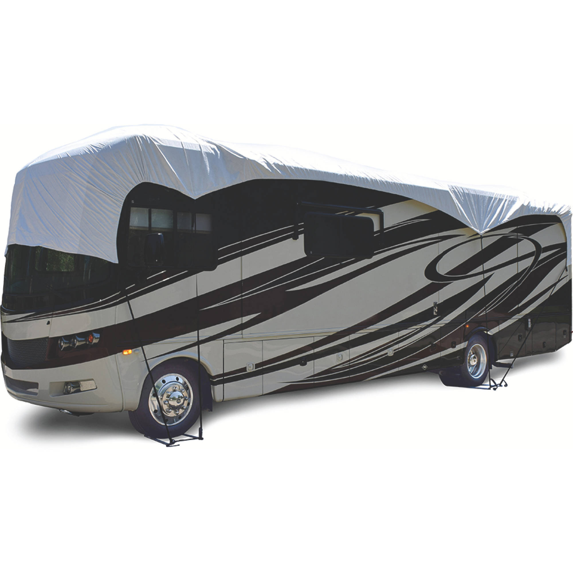 ADCO RV Roof Cover Fits Class A/Class C/Travel Trailer/Toyhauler and 5th Wheel, White Tyvek