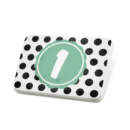 Porcelein Pin Monogram 1 Black White Polka Dots Lapel Badge – NEONBLOND Mens Pin Dot