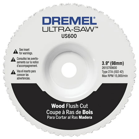 Dremel US600-01 Ultra-Saw 4-3/4 inch Wood and Plastic Flush Cut (Flush Cut Blade Adapter)