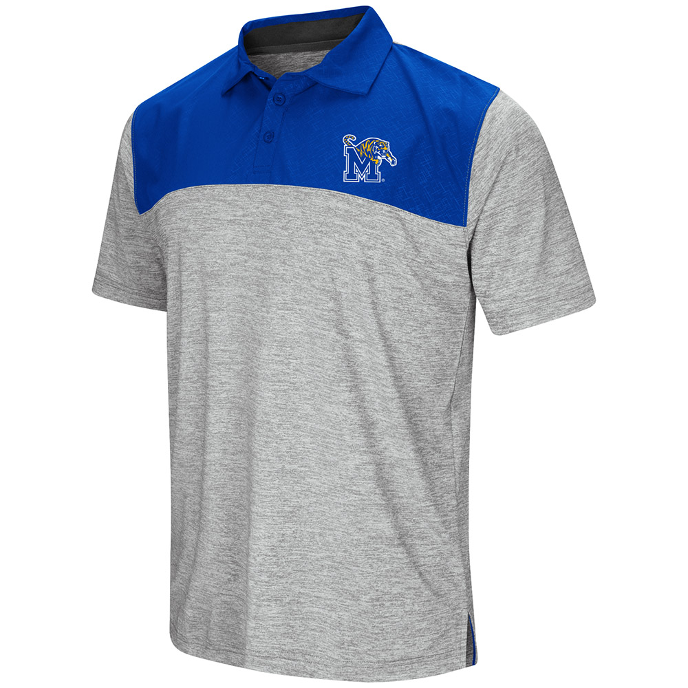 "Memphis Tigers NCAA ""Clear Sailing"" Men's Performance Woven Polo Shirt"