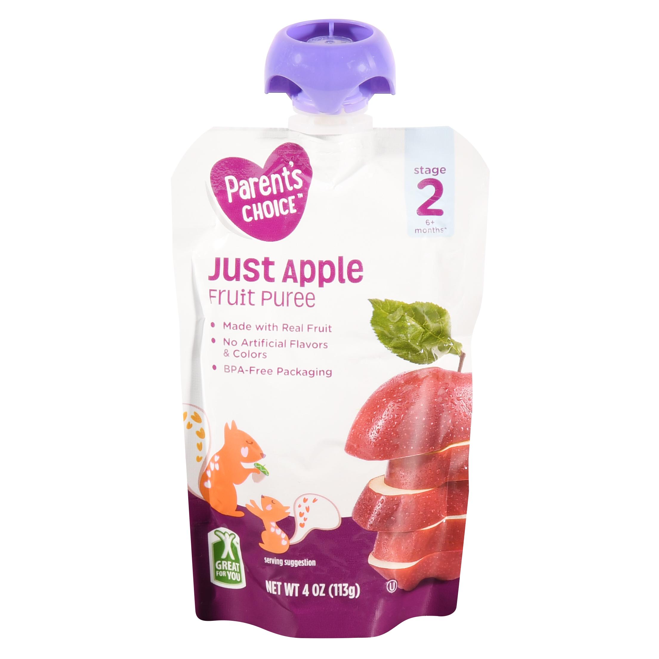 Parent's Choice Just Apple, Stage 2, 4 oz Pouch