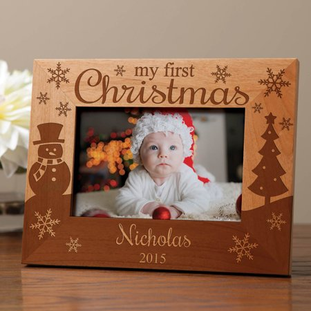 My First Christmas Personalized Wood Frame ()