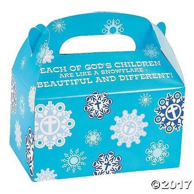 IN-13713617 Religious Snowflake Favor Boxes