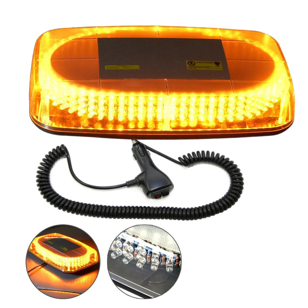 HQRP 240 LED Mini Light Bar Amber Yellow Warning Strobe w...