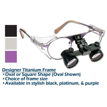 - 3.0xx SheerVision Titanium Ultra-Light Flip-Up Loupes