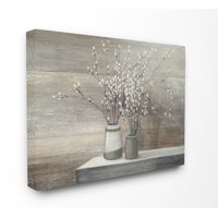 Stupell Industries Pussy Willow Still Life Oversized Canvas Wall Art