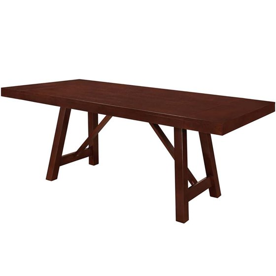 Walker Edison 60 Solid Wood Trestle Dining Table In Espresso