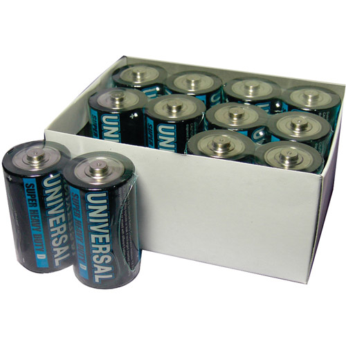 UPG D5325/D5925 Super Heavy-Duty Battery Value Box (D; 12 Pk)