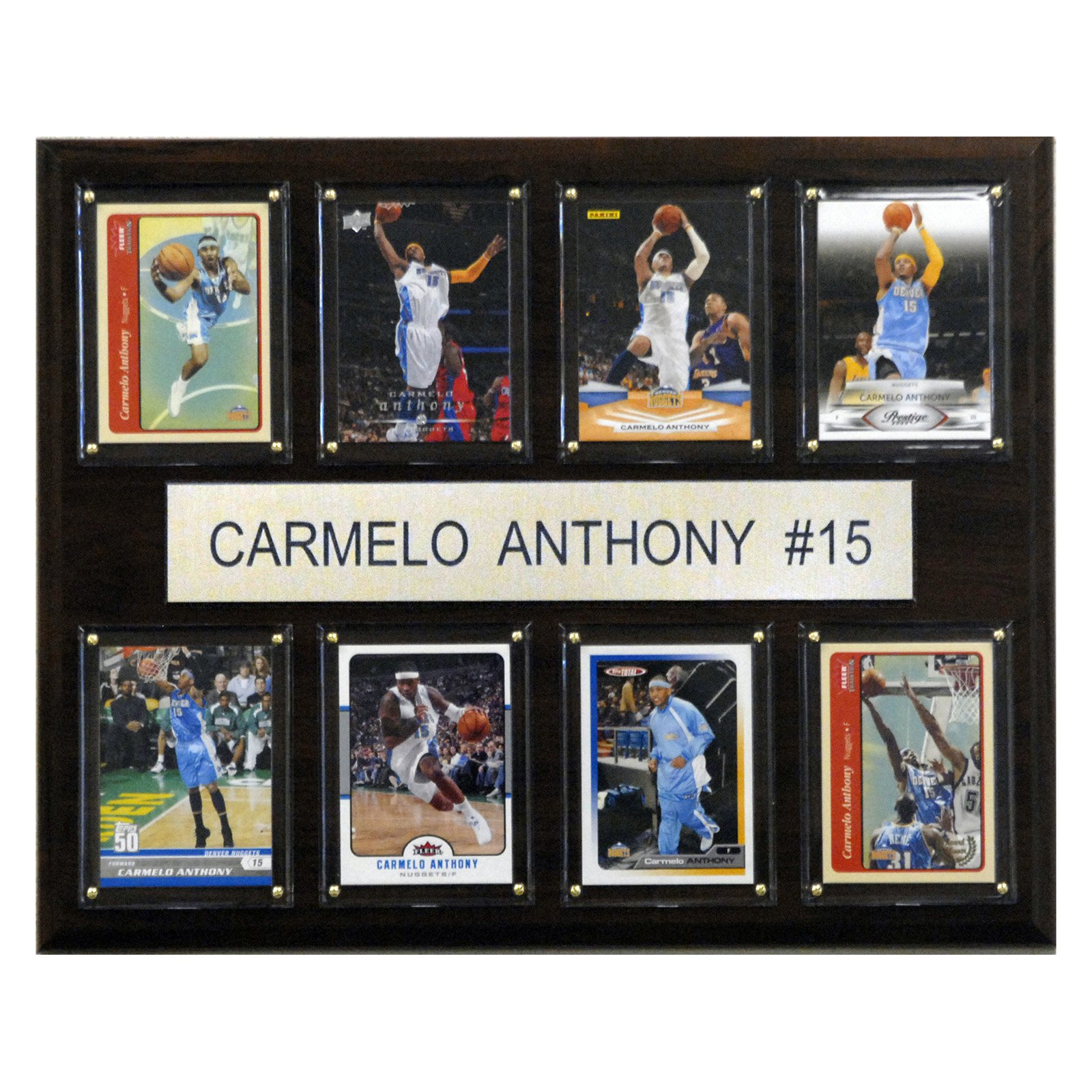 C&I Collectables NBA 12x15 Carmelo Anthony Denver Nuggets 8-Card Plaque