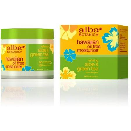 Alba Botanica Hawaiian Oil-Free Moisturizer, Refining Aloe & Green Tea 3 oz (Pack of 4)