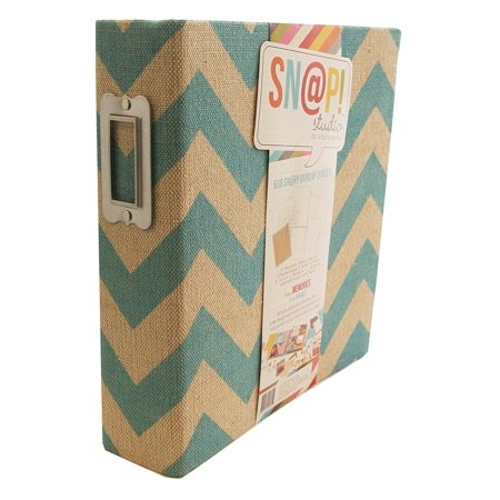stories snapt burlap binder 6 by 8 inch teal simple stories snapt