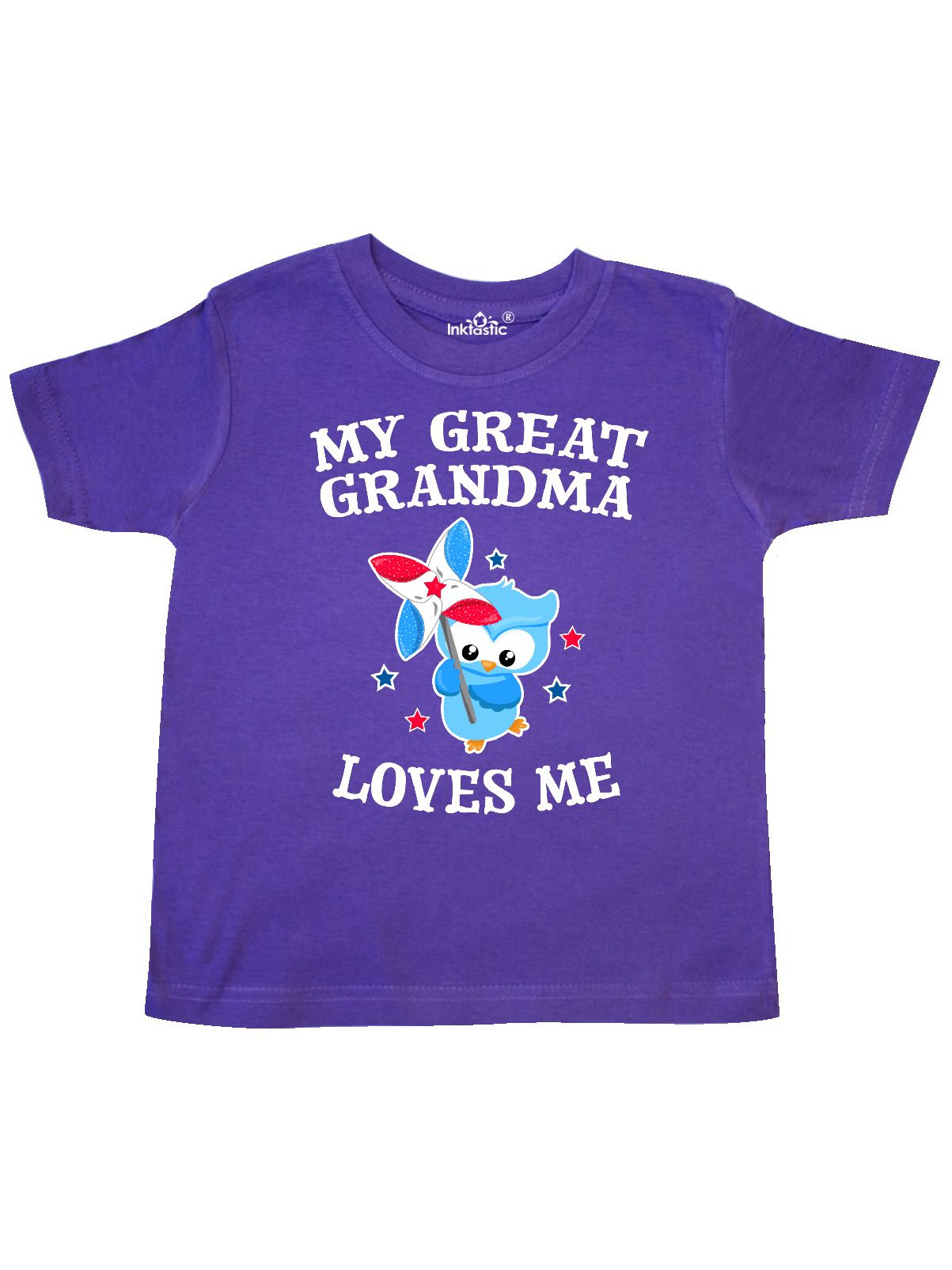 My Great Grandma Loves me with Owl Toddler T-Shirt