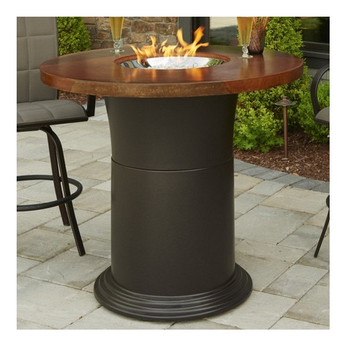 The Outdoor GreatRoom Company Colonial Fiberglass Gas Firepit Table by The Outdoor GreatRoom Company
