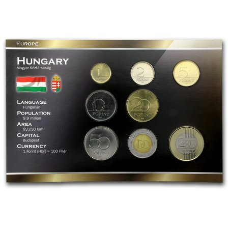 Hungary 1-200 Forint Coin Set