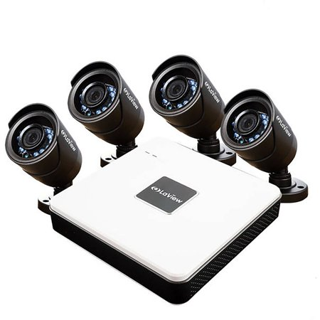 LaView 4 Cameras 8CH Security System DVR with 500GB HDD and 600TVL Night Vision Security Cameras Surveillance Kit