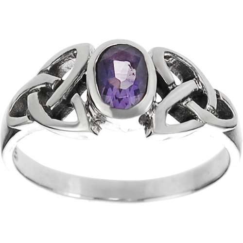 Brinley Co. Women's Sterling Silver Oval Celtic Knot Ring
