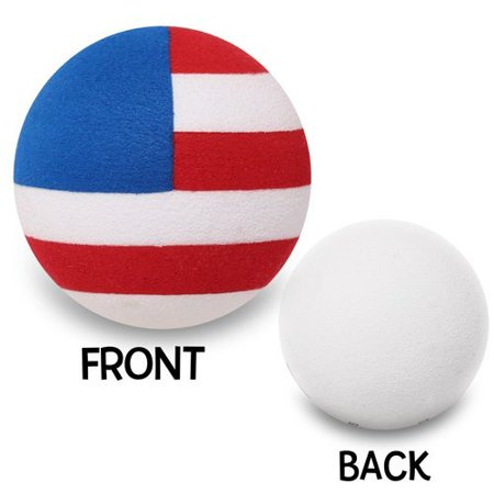 Quantity 3 pcs - Coolballs Cool RWB American Flag Car Antenna Toppers / Antenna Balls (Car Antenna Flag)