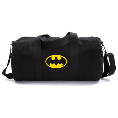 Batman Bat Symbol Logo Military Canvas Duffle Bag Travel Tote Sport Gym