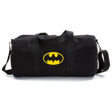 Batman Bat Symbol Logo Military Canvas Duffle Bag Travel Tote Sport Gym Duffel - Kids Gym Bag