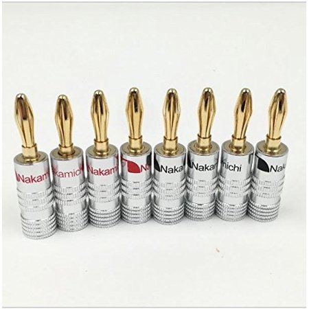 New 24 pcs 24K Gold Nakamichi Speaker banana plug Audio Jack connector