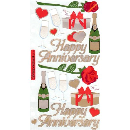 Happy Anniversary Sticko Photo Safe Paper Stickers (Anniversary Stickers)
