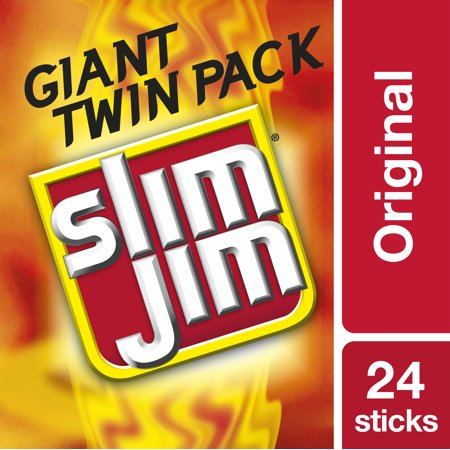 Slim Jim Twin Pack Snack-Sized Smoked Meat Stick, Original Flavor, 1.94 Oz.