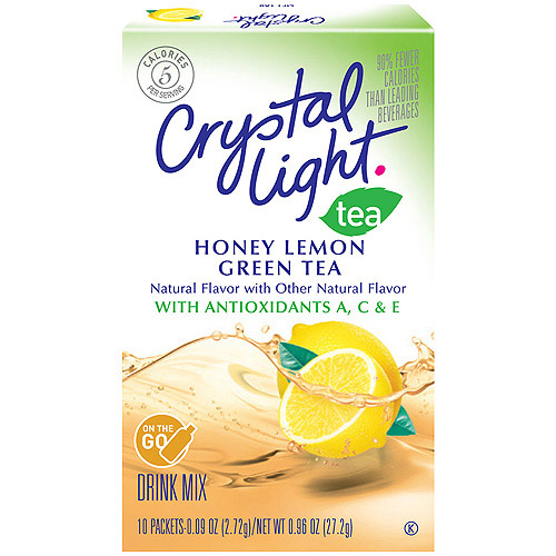 Crystal Light On The Go Antioxidant Honey Lemon Green Tea Soft Drink Mix, 10ct