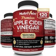 Best Apple Cider Vinegar Capsules - Nutrivein Apple Cider Vinegar Capsules with Mother 1600mg Review