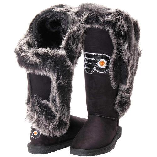 Philadelphia Flyers Cuce Shoes Women's Victorious Boots Black by Cuce Shoes
