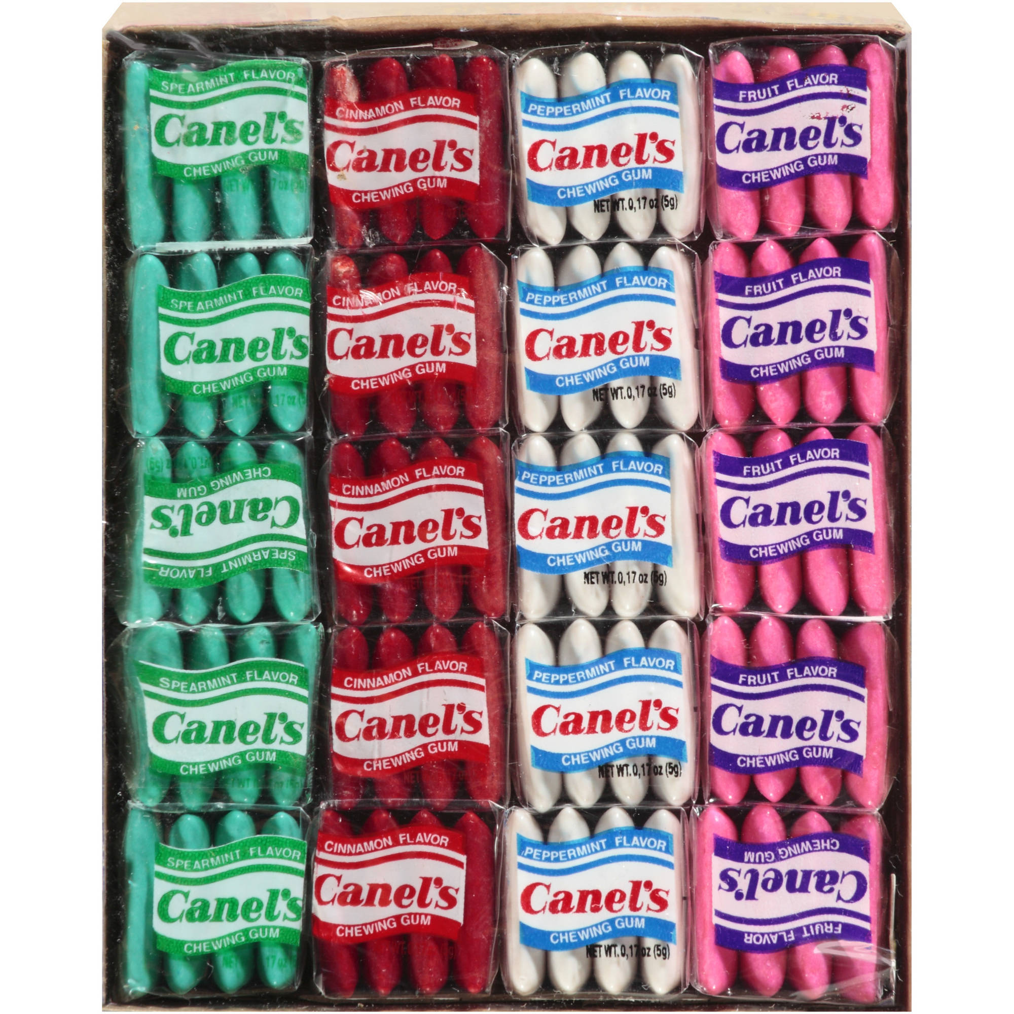 Canel's Assorted Flavors Chewing Gum, 4 pc, 20 count