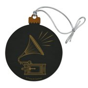 Downton Abbey Gramophone Wood Christmas Tree Holiday Ornament