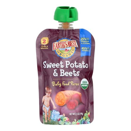 Earth's Best Organic Sweet Potato And Beets Baby Food Puree - Stage 2 - Pack of 12 - 3.5 (Best Pasta For Babies)